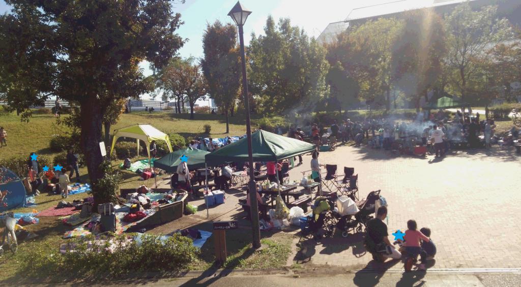 汐入公園バーベキュー