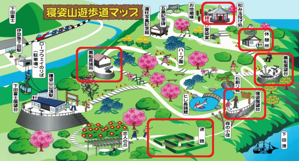 下田ロープウェイマップ