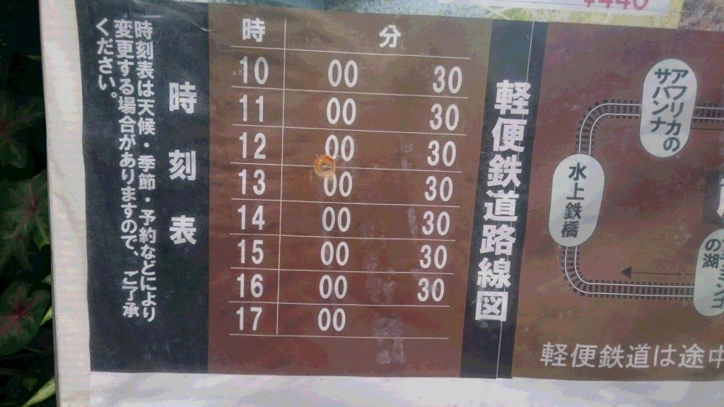 軽便鉄道時刻表